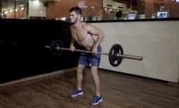 חתירה בהטיית גוף עם מוט