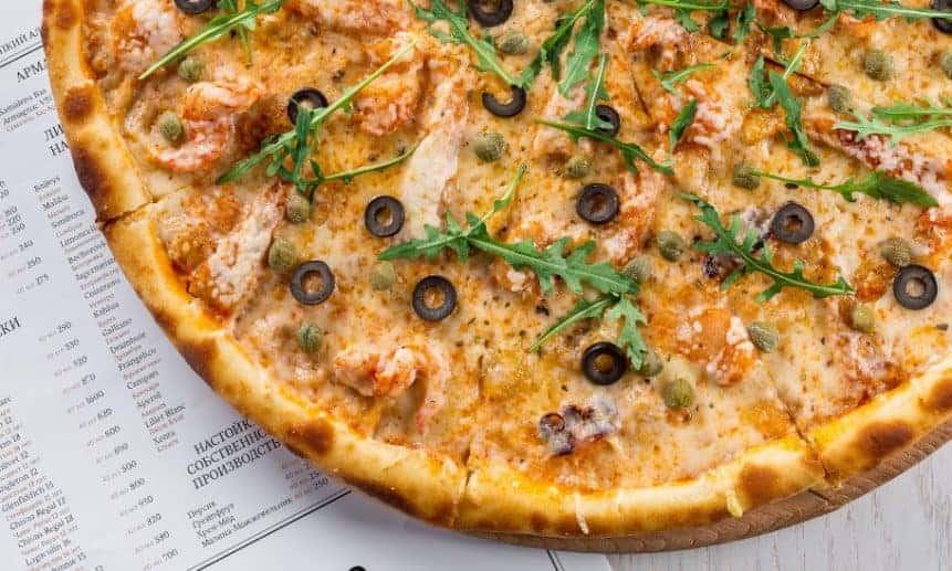 פיצה עם חלבון