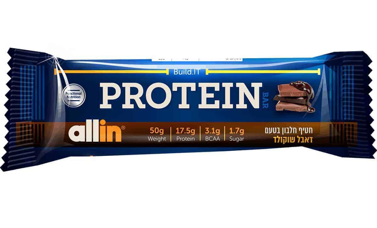 חטיף חלבון אול אין שוקולד