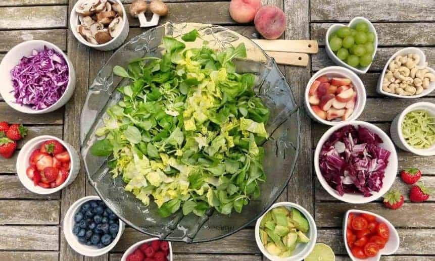 תפריט תזונה טבעוני 1800 קלוריות