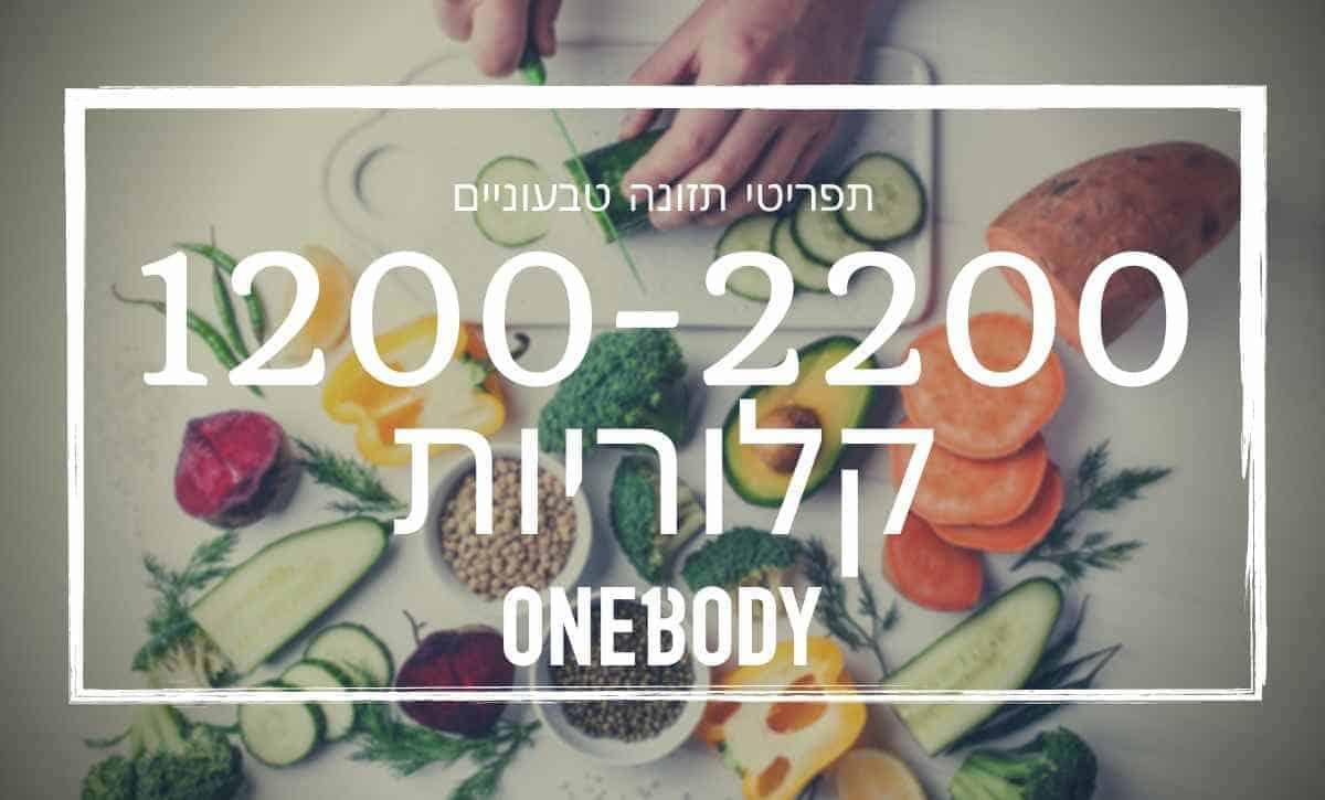 תפריט תזונה טבעוני – מתאים למסה או חיטוב, 1200-2200 קלוריות